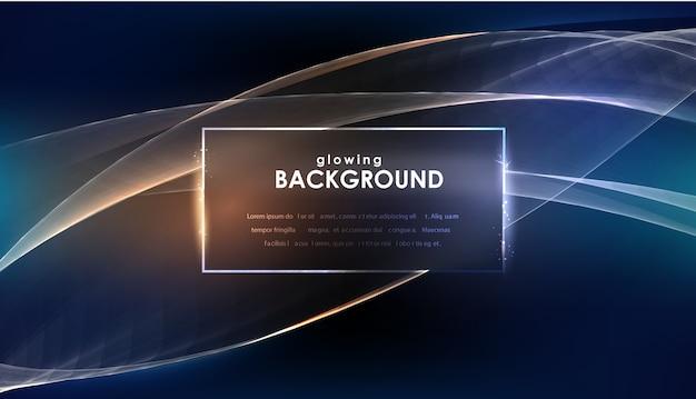 Luzes de cintilação de incandescência no fundo abstrato. Vetor Premium