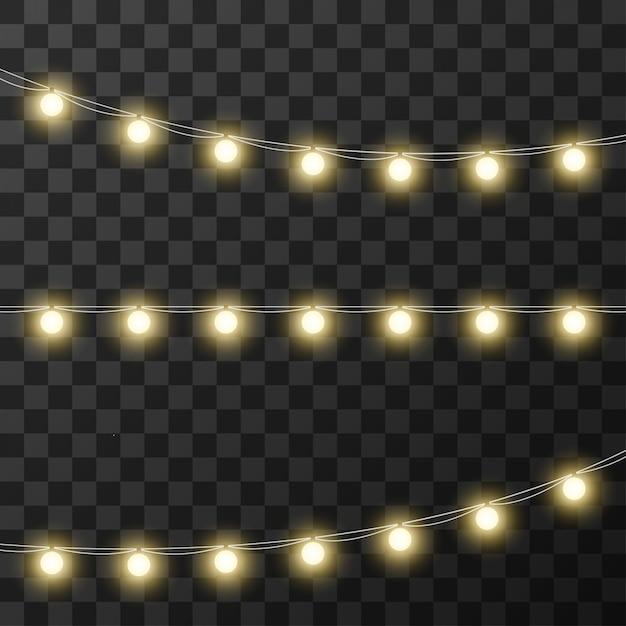 Luzes de natal isoladas em fundo transparente Vetor Premium