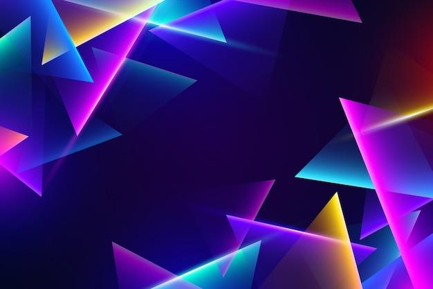Luzes de néon coloridas em fundo escuro Vetor grátis