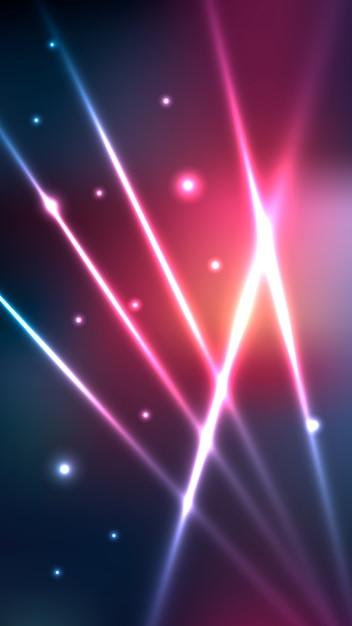 Luzes de néon futuristas turva papel de parede móvel Vetor grátis