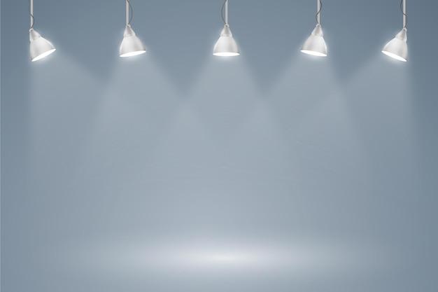 Luzes do ponto fundo luzes penduradas Vetor grátis
