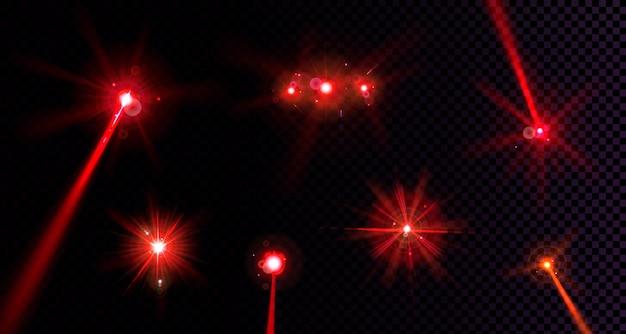 Luzes vermelhas sinalizadoras definidas Vetor grátis