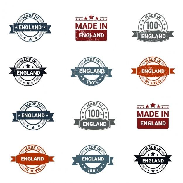 Made in england stamp Vetor grátis