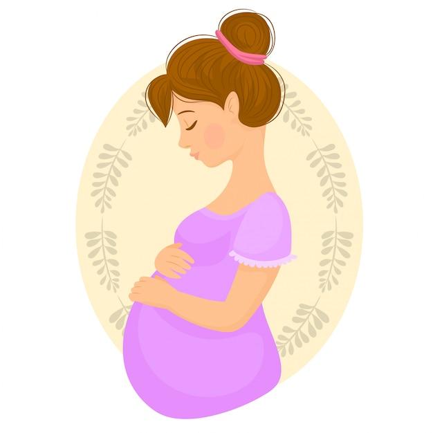 Mãe protetora segurando seu bebê solavanco Vetor Premium
