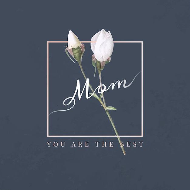 Mãe, você é o melhor Vetor grátis