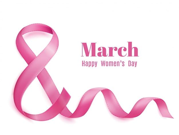 Mães dia 8 de março cartão Vetor grátis