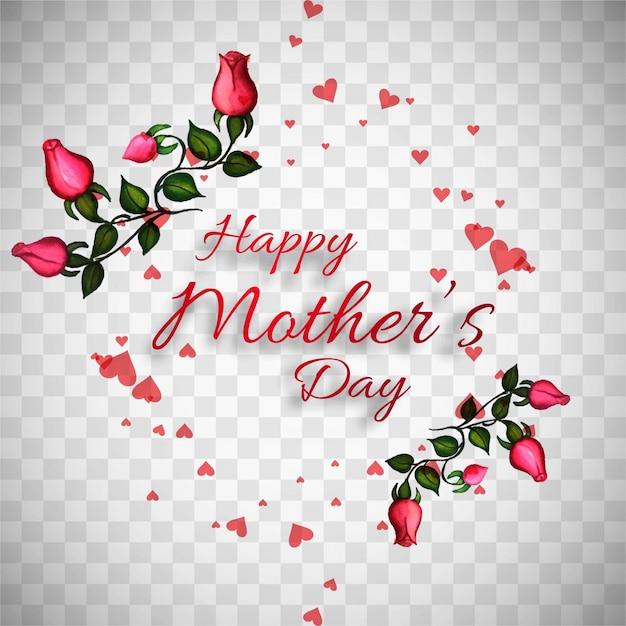 Mães dia flor fundo Vetor grátis