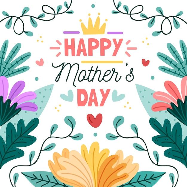 Mães dia floral conceito de evento Vetor grátis