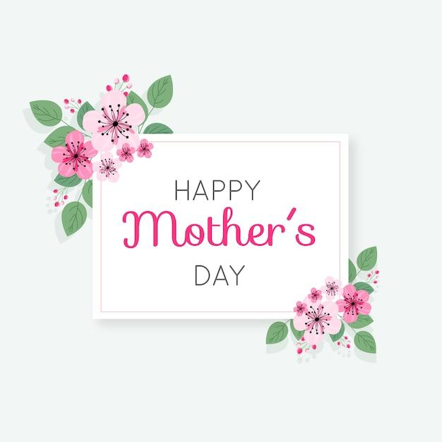 Mães dia floral conceito Vetor grátis