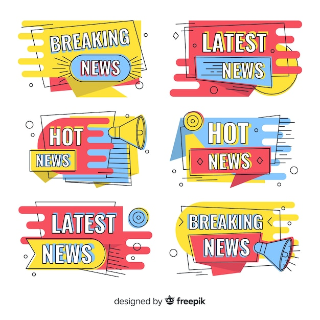 Mais recentes novos banners coloridos Vetor grátis