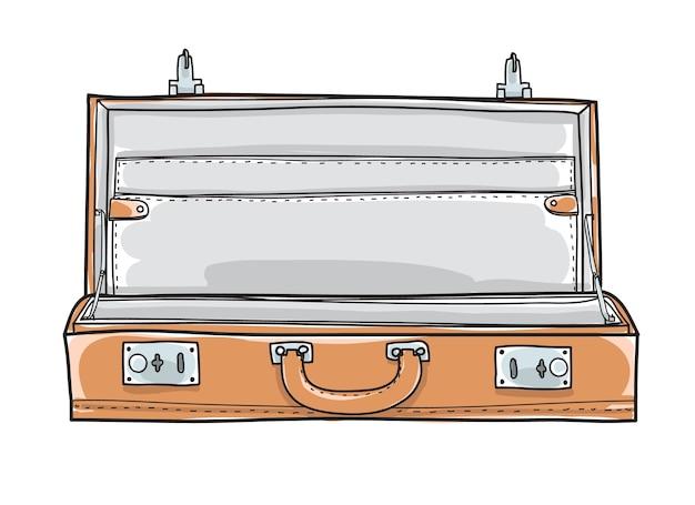 Mala de pasta vazia. vetor de mão desenhada vintage Vetor Premium