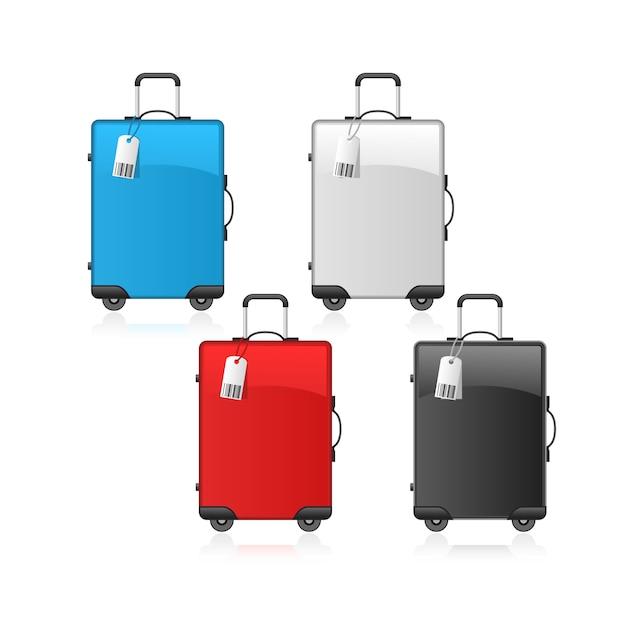 Malas de viagem Vetor Premium