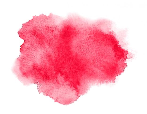 Mancha vermelha da aguarela com lavagem. textura de aquarela para o dia dos namorados Vetor Premium