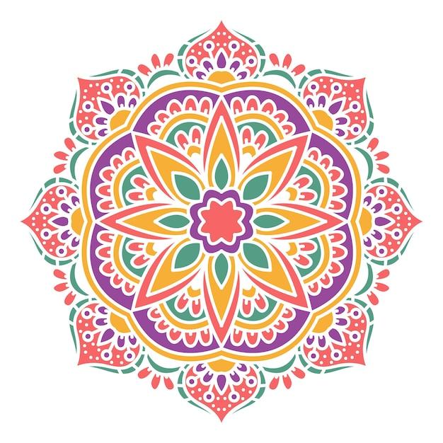 Mandala colorida   Vetor Premium