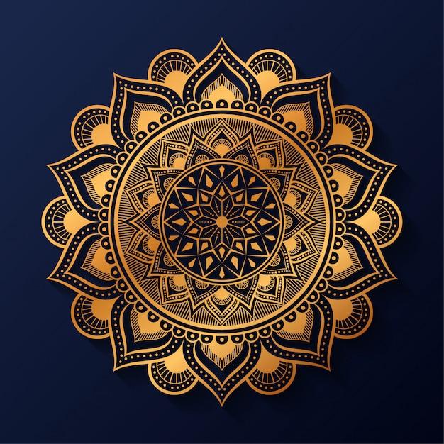 Mandala de arabesco de luxo Vetor Premium