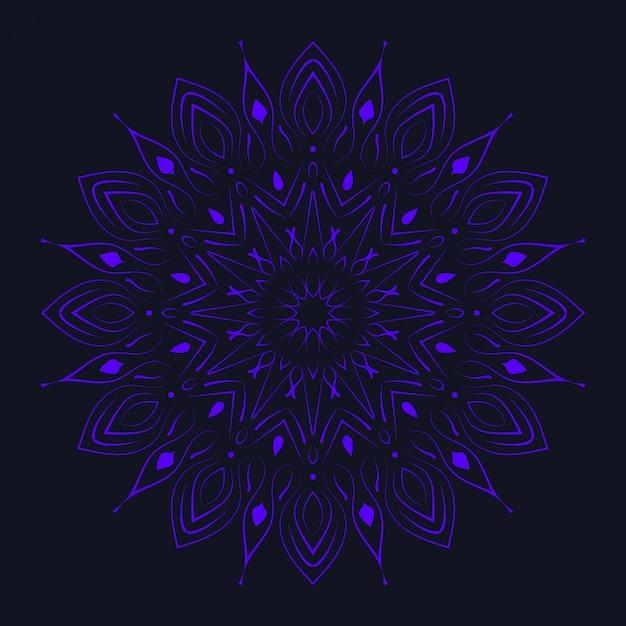 Mandala de luxo com estilo islâmico árabe de design arabesco dourado Vetor Premium