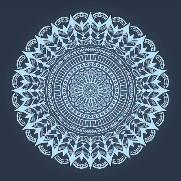 Mandala de luxo com estilo oriental árabe islâmico árabe de padrão de arabesco Vetor Premium