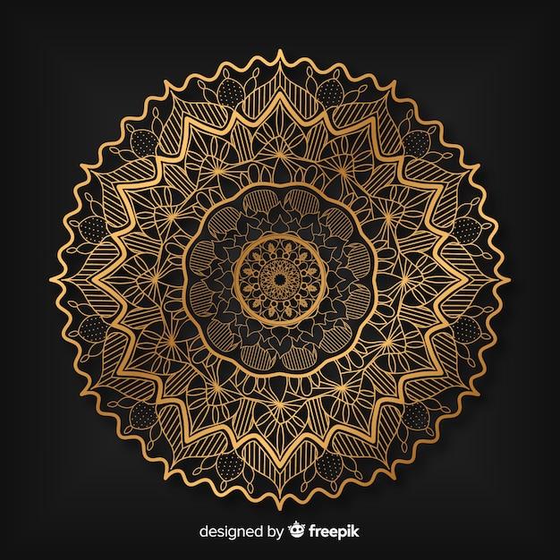 Mandala de luxo Vetor grátis