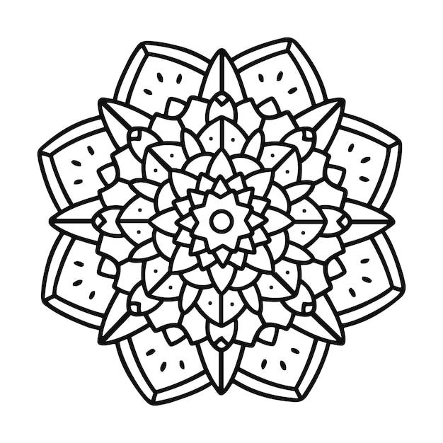 Mandala design Vetor grátis