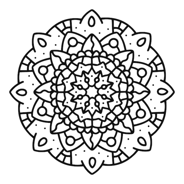 Mandala elegante Vetor grátis