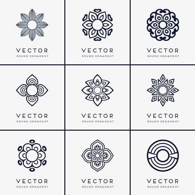 Mandala étnica vetorial Vetor grátis
