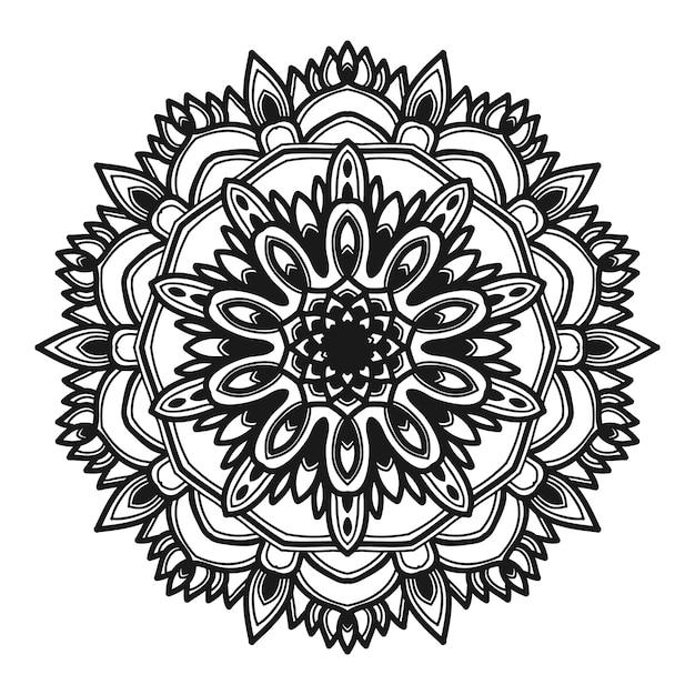 Mandala flor ilustração vetorial design Vetor Premium