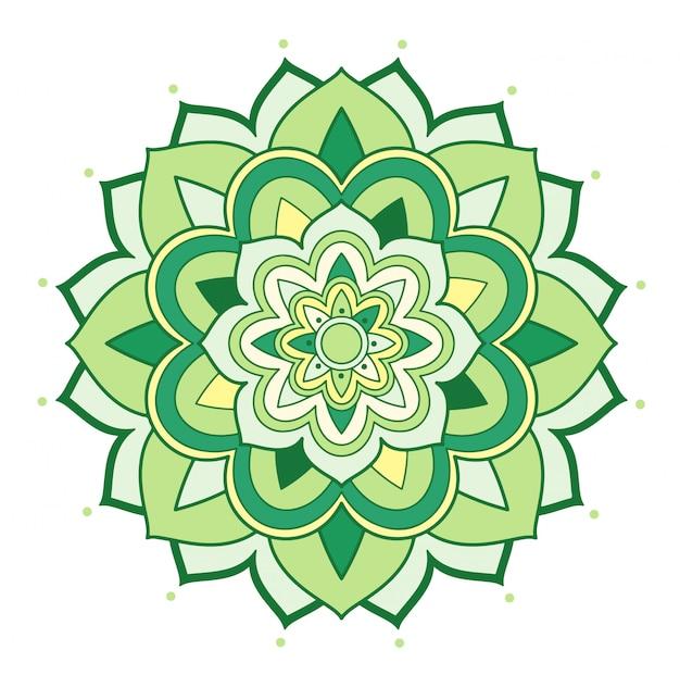 Mandala floral em branco Vetor grátis