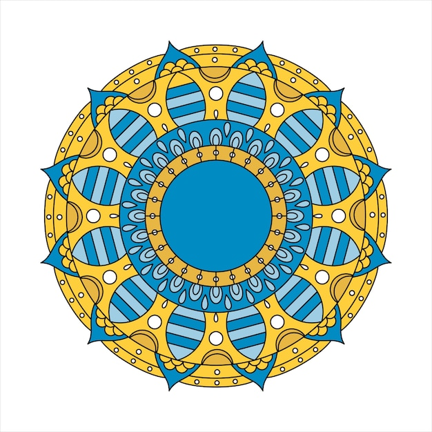 Mandala indiana colorida Vetor Premium