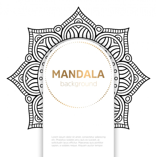 Mandala indiana de vetor Vetor grátis