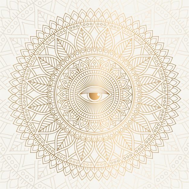 Mandala indiana Vetor grátis