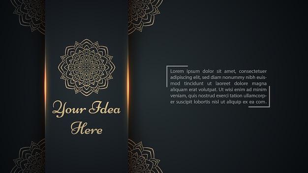 Mandala, mehendi - modelo étnico de ouro. Vetor Premium