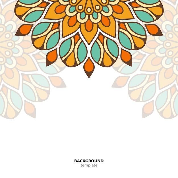 Mandala. padrão de ornamento redondo. origem étnica oriental Vetor Premium