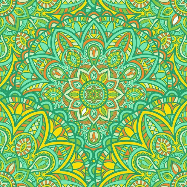 Mandala seamless vector design para impressão. ornamento tribal. Vetor Premium