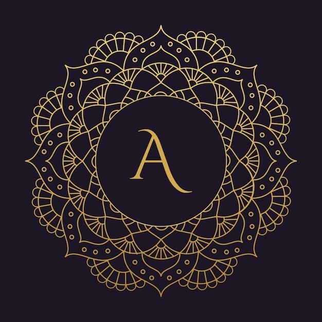 Mandala-vector logo / ícone de ilustração Vetor Premium
