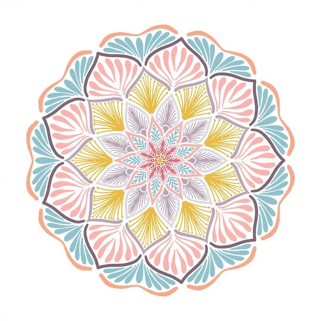 Mandalas para colorir livro Vetor Premium