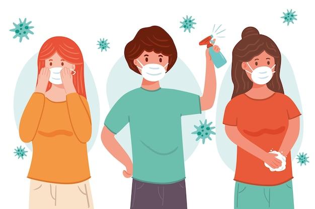Maneiras eficazes de prevenir o coronavírus Vetor grátis