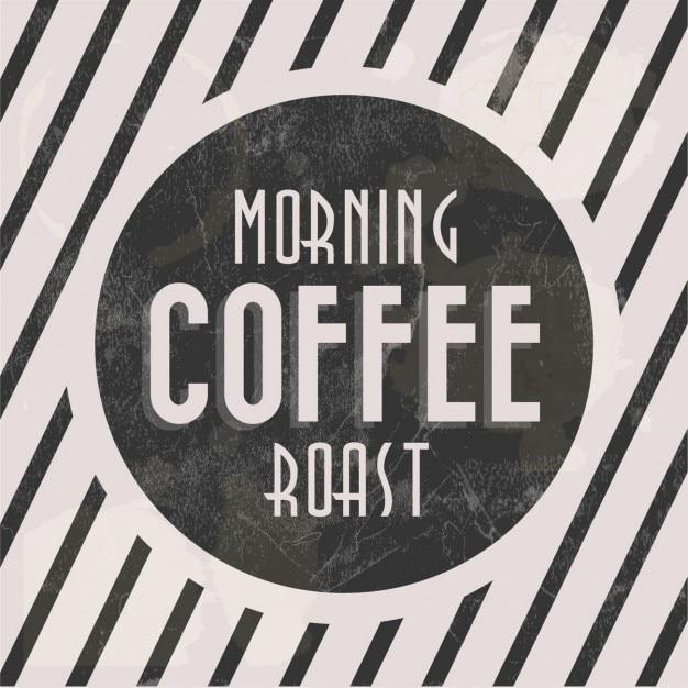 Manhã cartaz assado café Vetor grátis