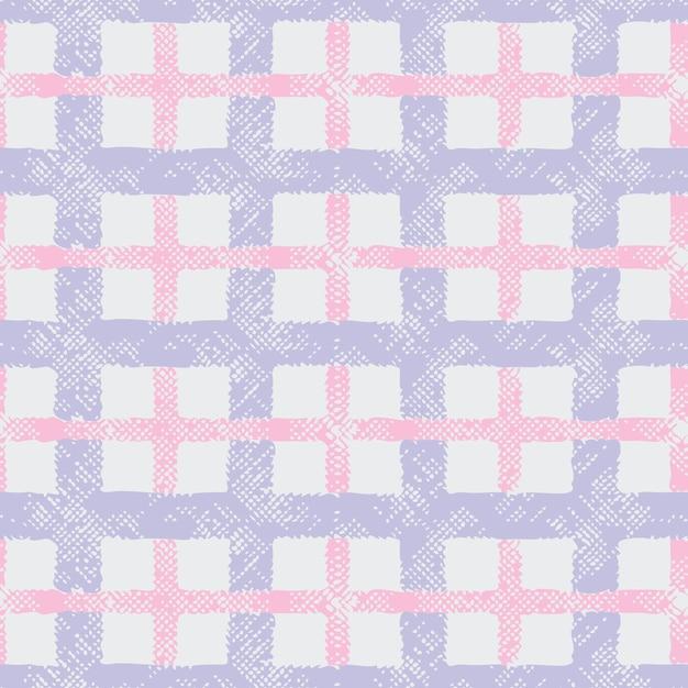 Manta de tartan textured. padrão sem emenda Vetor Premium