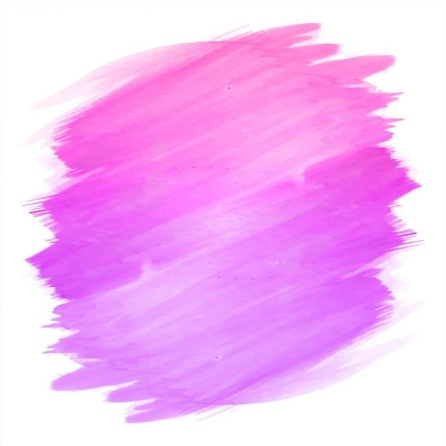 Mão abstrata desenhar traço rosa aquarela design Vetor grátis