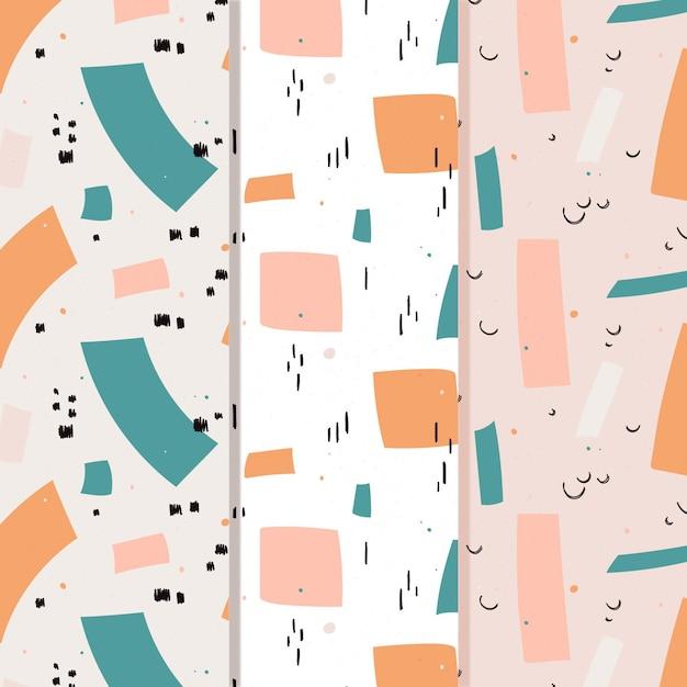 Mão abstrata extraídas coleção padrão Vetor grátis