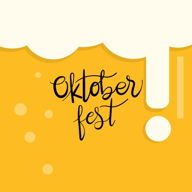 Mão da caligrafia de oktoberfest escrita. festival da cerveja. Vetor Premium