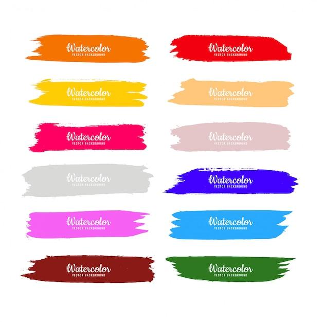 Mão de aquarela colorida abstrata desenhar design de traços Vetor grátis