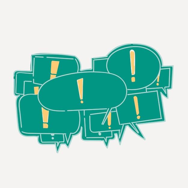 Mão de desenho ilustração do conceito de comunicação Vetor grátis