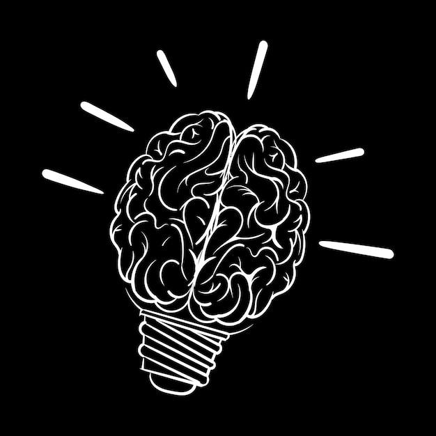 Mão de desenho ilustração do conceito de ideias criativas Vetor grátis