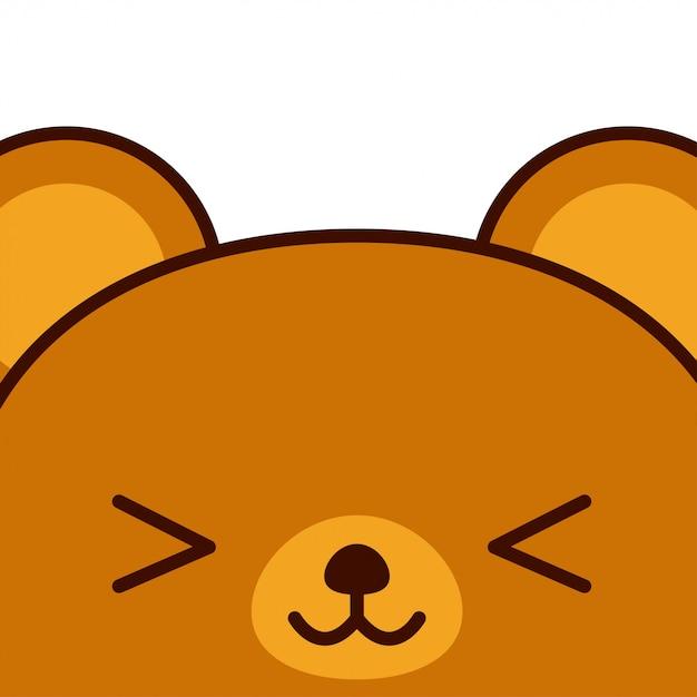 Mão de urso bonito dos desenhos animados desenhada Vetor Premium