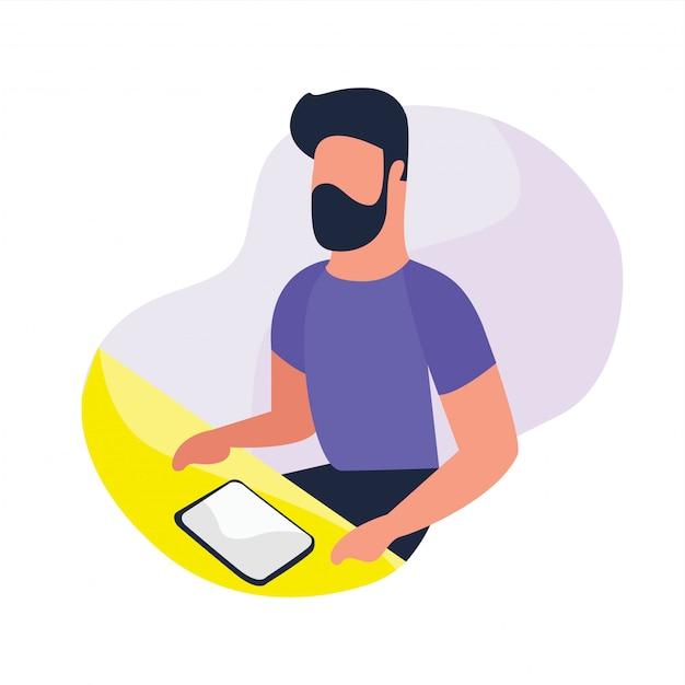 Mão desenhada atividades de pessoas de negócios com propriedades de trabalho Vetor Premium