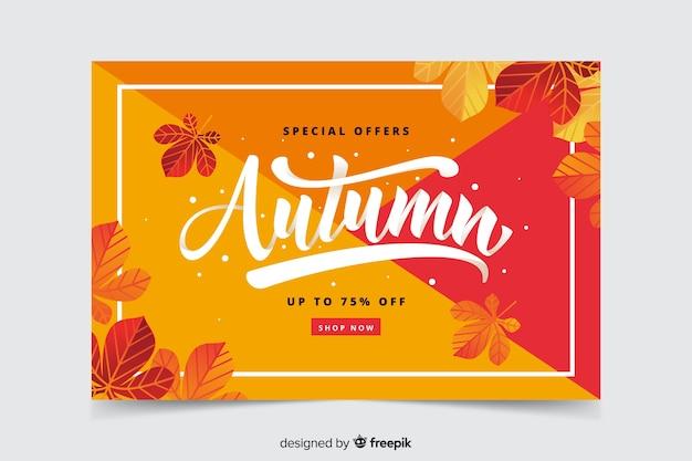 Mão desenhada banner de venda outono Vetor grátis