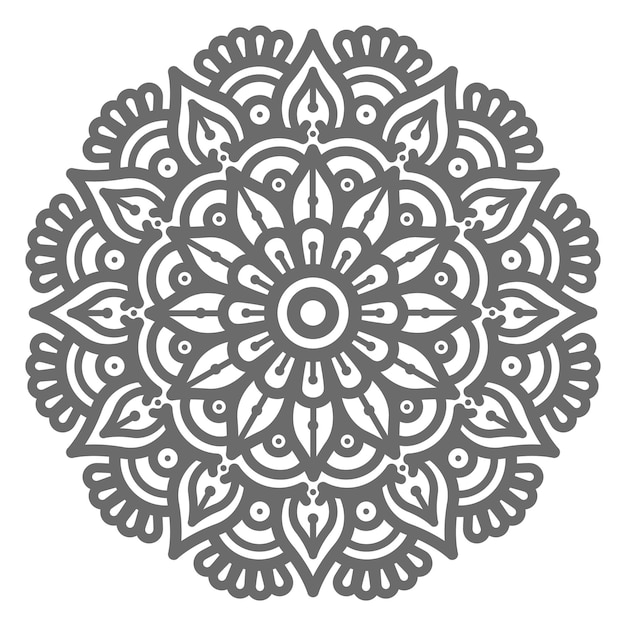 Mão desenhada círculo redondo ilustração linda mandala para conceito abstrato e decorativo Vetor Premium
