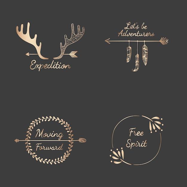Mão desenhada coleção de design de viagens Vetor grátis