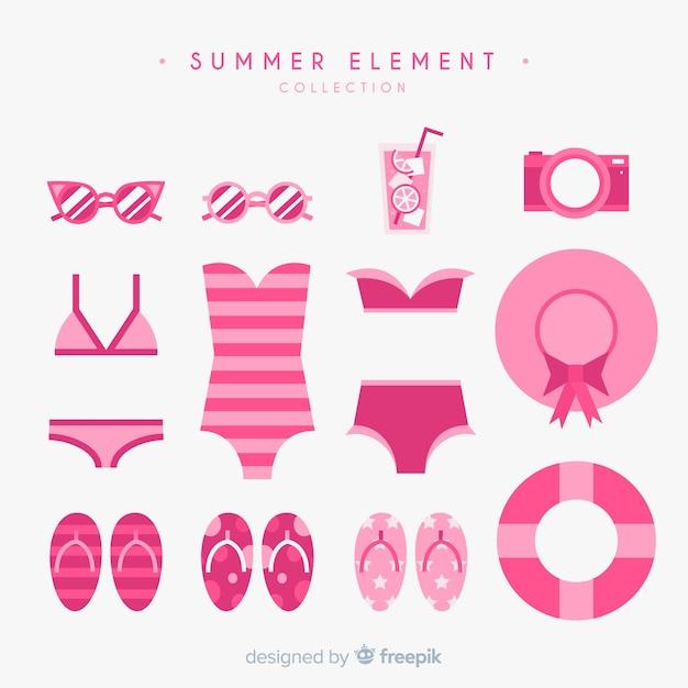 Mão desenhada coleção de elemento de verão Vetor grátis